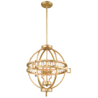 Lucas and McKearn GN/LEMURIA/3P A Lemuria 3 Light 23 inch Distressed Gold Pendant Ceiling Light Gilded Nola