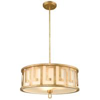 Lucas and McKearn GN/LEMURIA/P/L Lemuria 3 Light 22 inch Distressed Gold Pendant Ceiling Light Gilded Nola