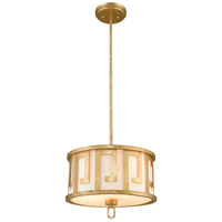 Lucas and McKearn GN/LEMURIA/P/M Lemuria 2 Light 15 inch Distressed Gold Pendant Convertible Semi-Flush Ceiling Light Gilded Nola