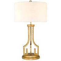 Lucas and McKearn GN/LEMURIA/TL Lemuria 32 inch 60 watt Distressed Gold Table Lamp Portable Light Gilded Nola