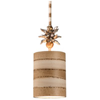 Anemone II 1 Light 6 inch Gold And Silver Leaf Pendant Ceiling Light, Flambeau