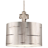 Fragment 1 Light 15 inch Silver Leaf And Glaze Pendant Ceiling Light, Flambeau