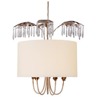 Lucas and McKearn PD1181 Antoinette 5 Light 22 inch Gold and Silver Leaf Pendant Ceiling Light Flambeau