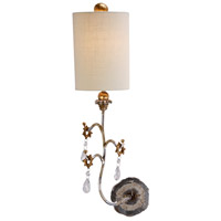 Tivoli 1 Light 8 inch Cream Patina With Silver And Gold Wall Sconce Wall Light, Flambeau