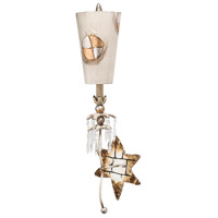 Compass 1 Light 10 inch Textured Taupe With Gold And Silver Leaf Wall Sconce Wall Light, Flambeau