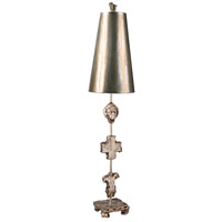 Fragment 40 inch 60 watt Silver Leaf And Umber Glaze Table Lamp Portable Light, Flambeau