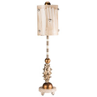 Pome 26 inch 60 watt Cream And Putty With Gold Leafed Table Lamp Portable Light, Flambeau