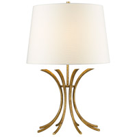 Rivers 26 inch 100 watt Distressed Gold Table Lamp Portable Light, Gilded Nola