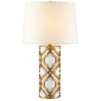 Arabella 28 inch 100 watt Distressed Gold Table Lamp Portable Light, Gilded Nola