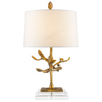 Audubon Park 28 inch 100 watt Distressed Gold Table Lamp Portable Light, Gilded Nola