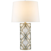 Arabella 28 inch 100 watt Distressed Silver Table Lamp Portable Light, Gilded Nola