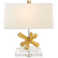 Jackson Square 18 inch 60 watt Distressed Gold Table Lamp Portable Light, Gilded Nola