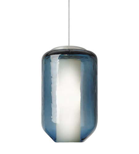 Lbl lighting hs574busc1bmrl mason 1 light 5 inch satin nickel low voltage mini pendant ceiling light in steel blue mason 50w xenon monorail