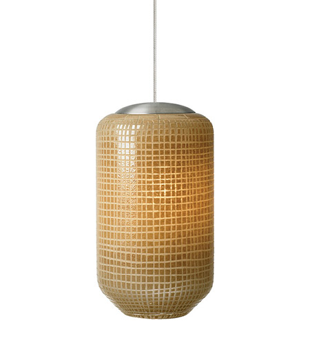Lbl lighting aiko 1 light low voltage mini pendant in satin nickel hs577ivsc1bfsj