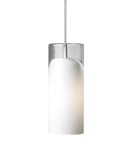 Lbl lighting hs586opsc1bmpt horizon 1 light 3 inch satin nickel low voltage pendant ceiling light in opal horizon 50w xenon monopoint