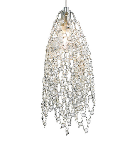 Lbl lighting mademoiselle 1 light low voltage pendant in satin nickel hs678ccscledfsj