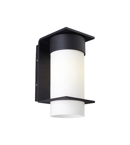 Lbl lighting jw638opbl2dw palm lane 1 light 12 inch black outdoor wall