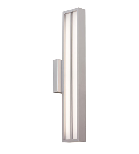 Lbl lighting od787opsiledw aviva led 26 inch silver outdoor wall in 120v