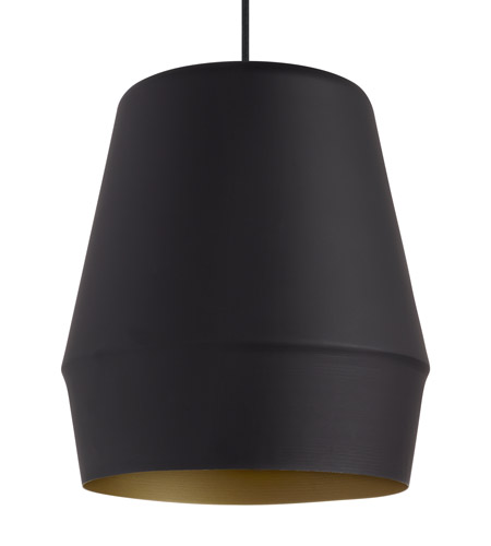 Lbl lighting lp954blgdled830 allea led 13 inch black and gold pendant ceiling light