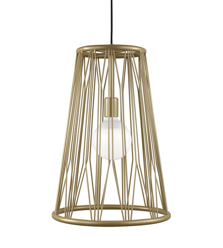 Lbl Lighting Lp1038gdled830 Diamant Led 14 Inch Satin Gold Pendant Ceiling Light