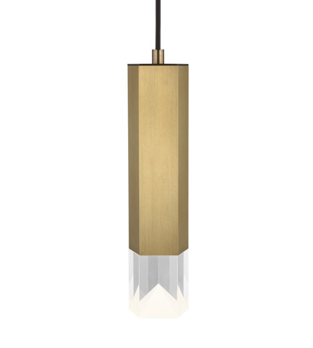 Lbl lighting lp1039abledwd krypton led 3 inch aged brass pendant ceiling light photo