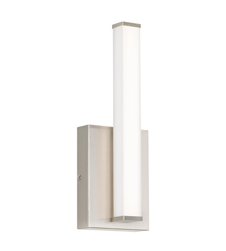 Lufe Led 3 Inch Satin Nickel Ada Wall Sconce Light Square