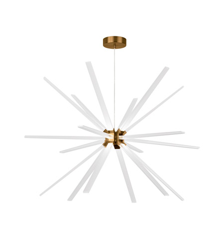 Lbl lighting ch997abled930277 photon led 48 inch aged brass chandelier ceiling light