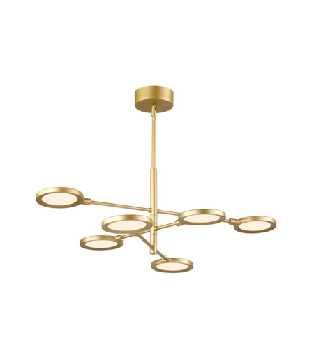 Lbl lighting ch1033gdled930 spectica led 27 inch satin gold chandelier ceiling light photo