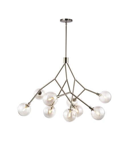 Lbl lighting ch1027sc sycamore 9 light 38 inch satin nickel chandelier ceiling light