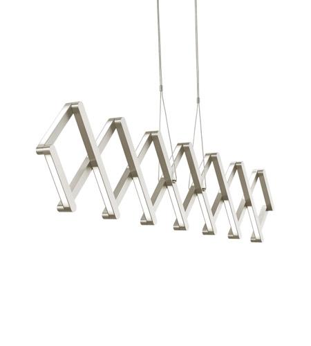 Lbl lighting su858scled830 xterna led 77 inch satin nickel linear suspension ceiling light in 120v photo