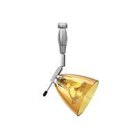 LBL Lighting HB325AMSC01LEDFSJ Dome I Swivel I LED 3 inch Satin Nickel Low-Voltage Mini Pendant Ceiling Light in Amber (Dome I Swivel I), 1in., Fusion Jack (no canopy)