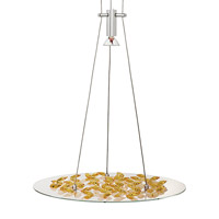 LBL Lighting Piattini 1 Light Line-Voltage Pendant in Polished Chrome HS173AMPC1A7505