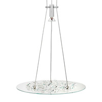 LBL Lighting Piattini 1 Light Line-Voltage Pendant in Polished Chrome HS173CRPC1A7505