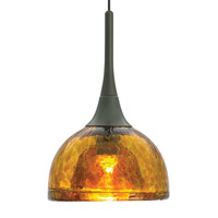 LBL Lighting HS266AMBZ1A35MRL Sophia Coax 1 Light 5 inch Bronze Low-Voltage Pendant Ceiling Light in Amber (Sophia Coax) Monorail