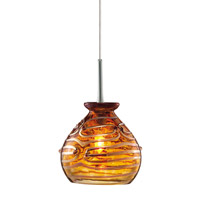 Gelato 1 Light 5 inch Satin Nickel Low-Voltage Pendant Ceiling Light in Amber (Gelato), Fusion Jack (no canopy)