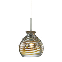 Gelato 1 Light 5 inch Satin Nickel Low-Voltage Pendant Ceiling Light in Clear (Gelato), Monorail