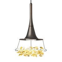 LBL Lighting HS336AMBZ1A35MRL Vision 1 Light 4 inch Bronze Low-Voltage Pendant Ceiling Light in Amber (Vision) Monorail