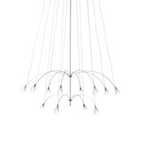 LBL Lighting Twilight 12 Light Chandelier in Satin Nickel HS4412410SC60