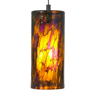 Abbey 1 Light 4 inch Bronze Low-Voltage Pendant Ceiling Light in Amber-Purple, 50W, Xenon, Monorail