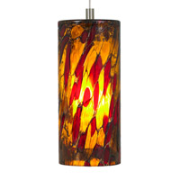 Abbey 1 Light 4 inch Satin Nickel Low-Voltage Pendant Ceiling Light in Amber-Red, 50W, Xenon, Monorail