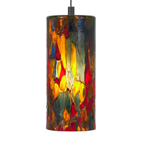 Abbey 1 Light 4 inch Bronze Low-Voltage Pendant Ceiling Light in Blue-Amber-Red, 50W, Xenon, Fusion Jack (no canopy)