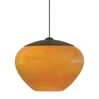 Cylia 1 Light 6 inch Bronze Low-Voltage Pendant Ceiling Light in Amber (Cylia), 50W, Xenon, Fusion Jack (no canopy)