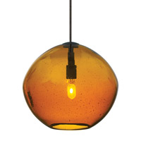 Isla 1 Light 7 inch Bronze Low-Voltage Mini Pendant Ceiling Light in Amber (Isla), Fusion Jack (no canopy)