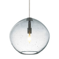 LBL Lighting HS506CRSC1B35MRL Isla 1 Light 7 inch Satin Nickel Low-Voltage Mini Pendant Ceiling Light in Clear (Isla) Monorail