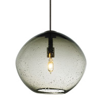 Isla 1 Light 7 inch Bronze Low-Voltage Mini Pendant Ceiling Light in Smoke (Isla), Fusion Jack (no canopy)