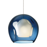 Jasper 1 Light 9 inch Satin Nickel Low-Voltage Mini Pendant Ceiling Light in Steel Blue (Jasper), Fusion Jack (no canopy)