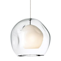 Jasper 1 Light 9 inch Satin Nickel Low-Voltage Mini Pendant Ceiling Light in Clear (Jasper), Monopoint