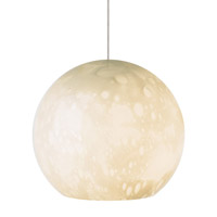 Aquarii 1 Light 6 inch Satin Nickel Low-Voltage Pendant Ceiling Light in Ivory (Aquarii), 50W, Xenon, Fusion Jack (no canopy)