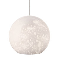 Aquarii 1 Light 6 inch Satin Nickel Low-Voltage Pendant Ceiling Light in Opal (Aquarii), 50W, Xenon, Monopoint