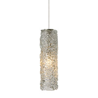Isis 1 Light 3 inch Satin Nickel Low-Voltage Mini Pendant Ceiling Light in Clear (Isis), 50W, Xenon, Fusion Jack (no canopy)